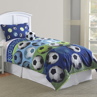 Soccer Comforter Set Size: Twin