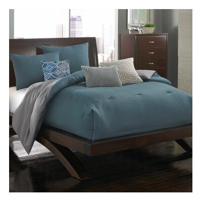 Contempo Solid 6 Piece Comforter Set Size: King