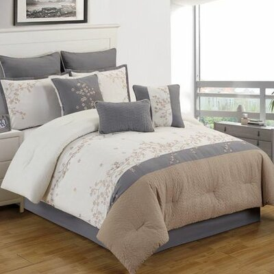 Templeton 10 Piece Comforter Set Size: King