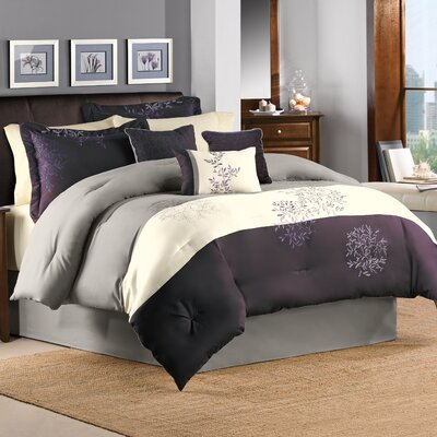 Country Manor Glenberry 7 Piece Comforter Set Size: King