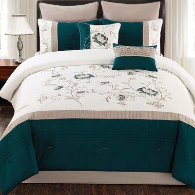 Country Manor Garrett 8 Piece Comforter Set Size: King