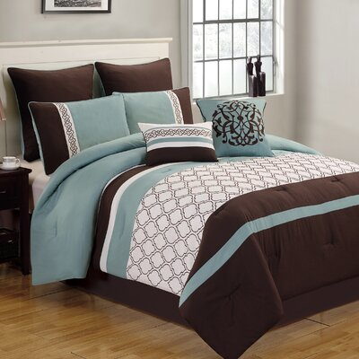 Country Manor Teagan 8 Piece Comforter Set Size: Full/Queen