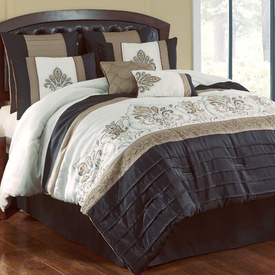 Country Manor Blackmoore 8 Piece Comforter Set Size: Full/Queen