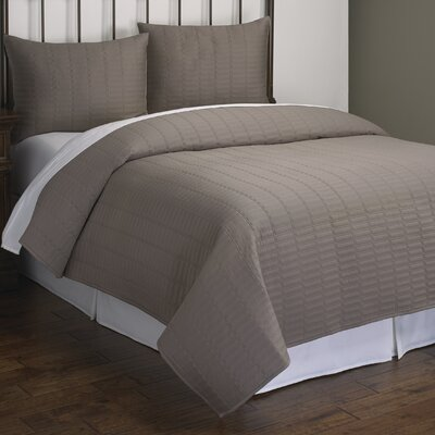 Christopher 3 Piece Quilt Set Size: King, Color: Grey