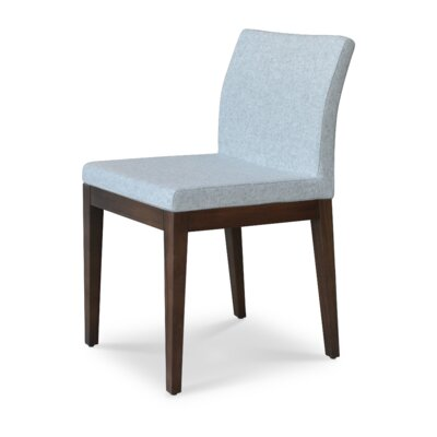 Aria Upholstered Dining Chair Leg Color: Wenge, Upholstery Color: Smoke Blue