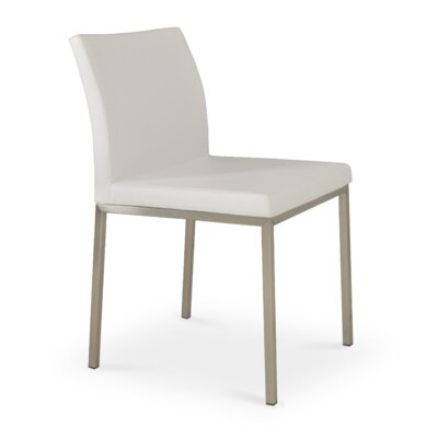 Paria Upholstered Dining Chair Upholstery Color: White