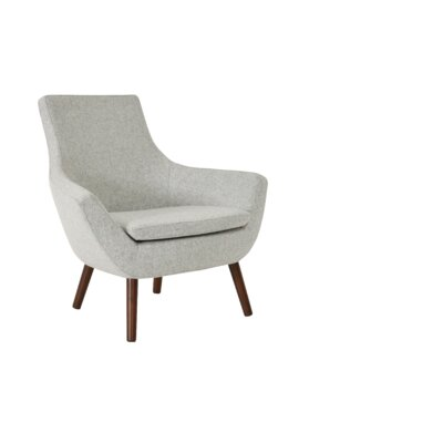 Rebecca Wood Armchair Upholstery: Silver