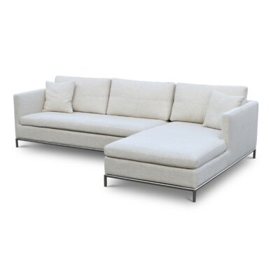 Istanbul Sectional Upholstery: Grey, Upholstery Material: Cotton, Orientation: Right Hand Facing