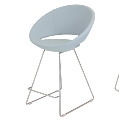 Crescent 24 Bar Stool Upholstery: Sky Blue Leatherette