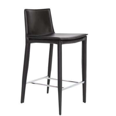 Tiffany 29.5 Bar Stool Upholstery: Black