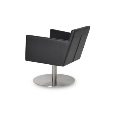 Harput Swivel Lounge Chair Upholstery: Black