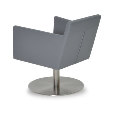 Harput Swivel Lounge Chair Upholstery: Gray