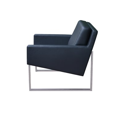 Nova Sled Lounge Chair Upholstery: Black