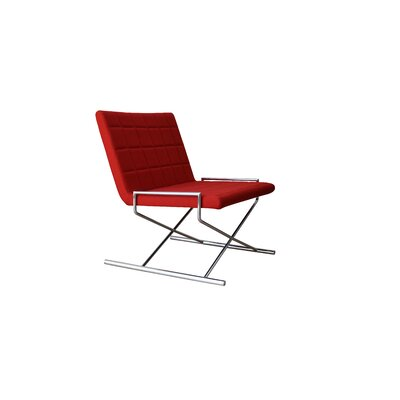 Chelsea X Sled Side Chair Upholstery: Red