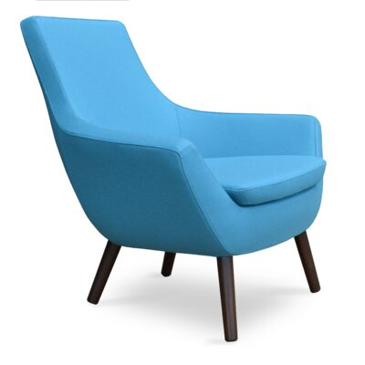 Rebecca Wood Armchair Upholstery: Sky Blue