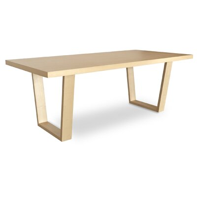 Malibu 79 Dining Table Base Finish: Natural, Top Finish: Natural