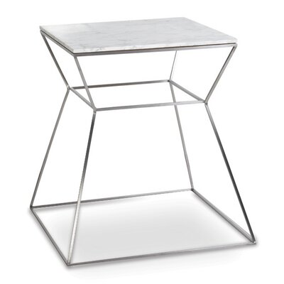 Gakko End Table Top: White Marble