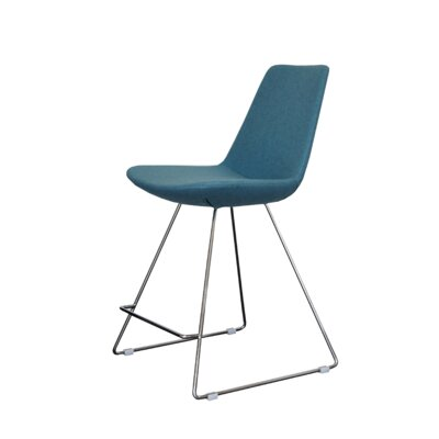 Eiffe 24 Bar Stool Upholstery: Green Leatherette