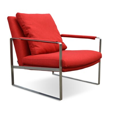 Zara Armchair Upholstery: Red Tweed Camira Wool