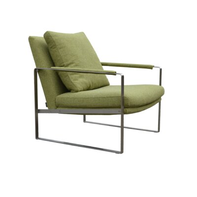 Zara Arm Chair Upholstery: Green Camira Wool