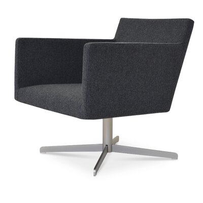 Harput 4 Star Base Armchair Upholstery: Dark Grey