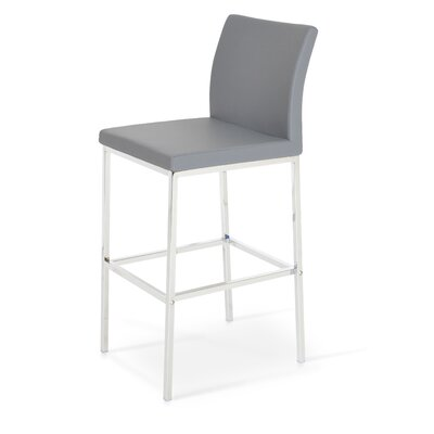 Aria 29 Bar Stool Upholstery: PPM Leatherette-Grey