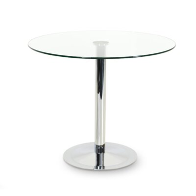Lady Round Base Counter Height Dining Table Size: 43