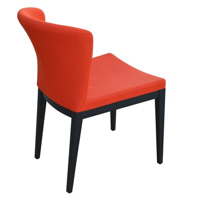 Capri Upholstered Dining Chair Upholstery Color: Red, Frame Color: Walnut