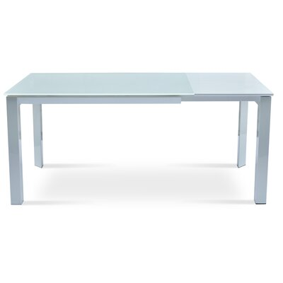 Milano Extendable Dining Table Finish Silver
