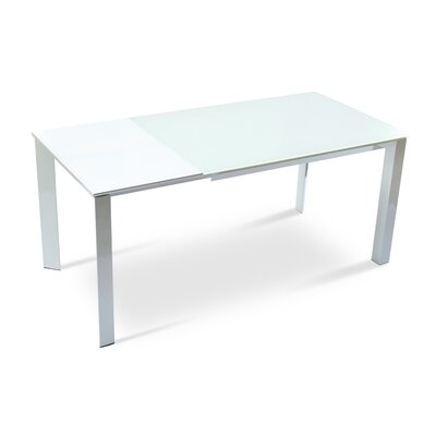 Milano Extendable Dining Table Finish White
