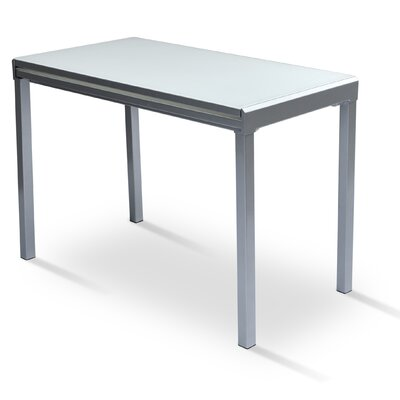 Modern Extendable Dining Table Finish: Silver
