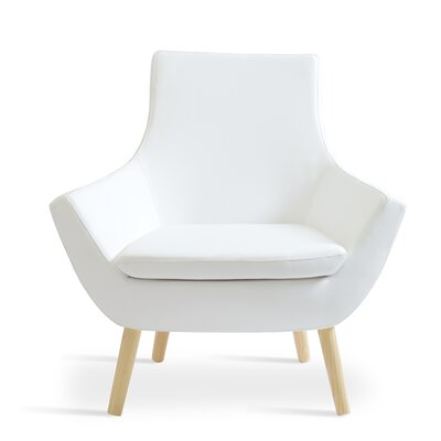 Rebecca Wood Armchair Upholstery: White