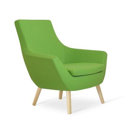 Rebecca Wood Armchair Upholstery: Pistachio