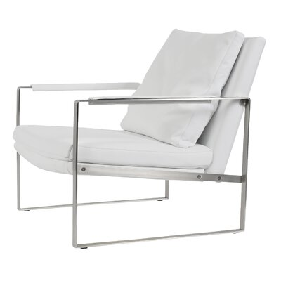 Zara Armchair Color: White, Upholstery Type: PPM Leatherette