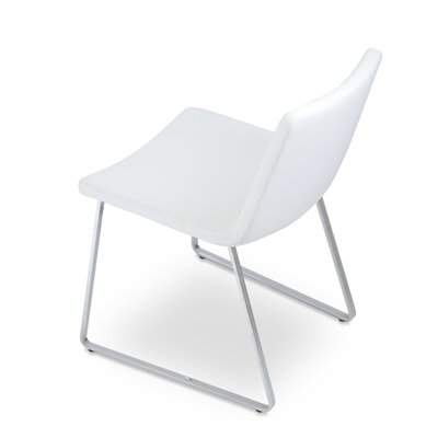 Nevada Side Chair Finish: Chrome, Upholstery: White