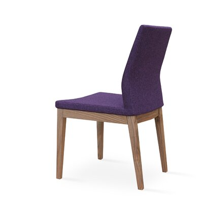 Pasha Parsons Chair Finish: Walnut, Upholstery: Camira Wool, Color: Maroon