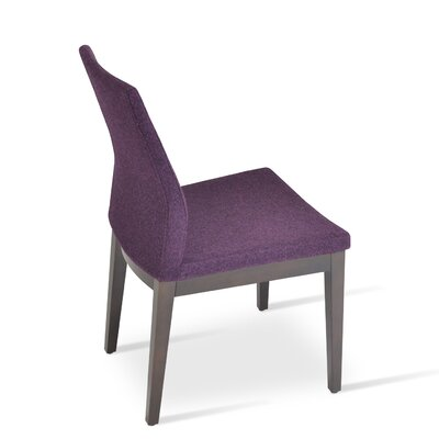 Pasha Parsons Chair Finish: Wenge, Upholstery: Camira Wool, Color: Maroon