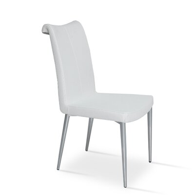 Lale Upholstered Dining Chair Color: White