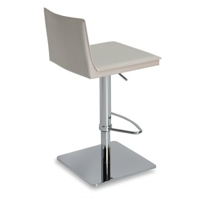Tiffany Adjustable Height Bar Stool Upholstery: Grey