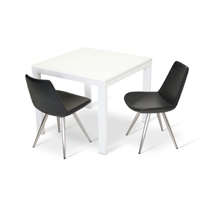 Eiffel Star Upholstered Dining Chair Color: Stainless Steel
