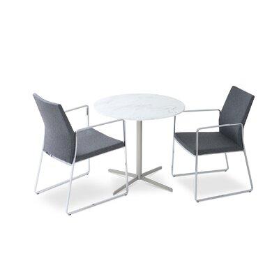 Pasha Slide Arm Chair Finish: Chrome, Upholstery: Dark Gray Wool