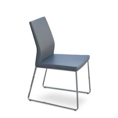 Pasha Slide Upholstered Dining Chair Color: Leatherette Gray