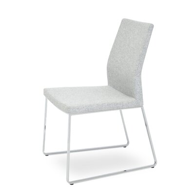 Pasha Slide Upholstered Dining Chair Color: Silver