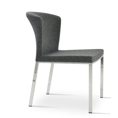 Capri Upholstered Dining Chair Color: Dark Grey