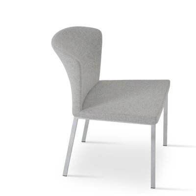 Capri Parsons Chair Upholstery: Camira Wool - Silver