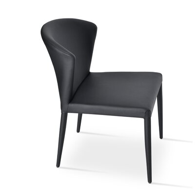 Capri Upholstered Dining Chair Color: Black