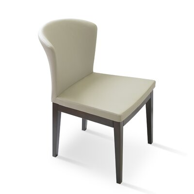 Capri Upholstered Dining Chair Upholstery Color: Bone, Frame Color: Walnut