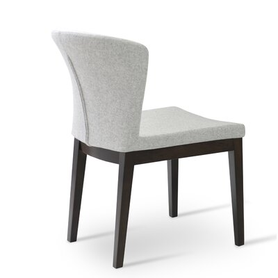 Capri Upholstered Dining Chair Color: White