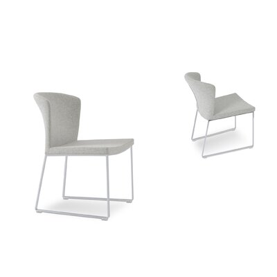 Capri Upholstered Dining Chair Color: Silver