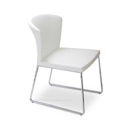 Capri Parsons Chair Upholstery: Italian PPM - White